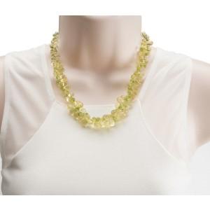 Peridot Citrine Briolette Necklace