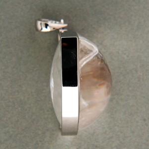 Vintage Estate 44.04ct Manifestor 18k White Gold Quartz Crystal Pendant