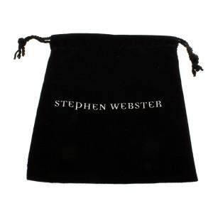 Stephen Webster 925 Sterling Silver Superstud Pave Ruby In Black Necklace