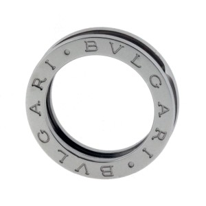Bulgari B. Zero 18K White Gold Band Ring Size 3.75