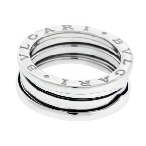 Bulgari B.Zero 1 18K White Gold 3 Band Ring Size 4.75