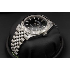 Rolex Datejust 126334 Stainless Steel Black Index Dial Jubilee Bracelet 41mm Mens Watch 2017