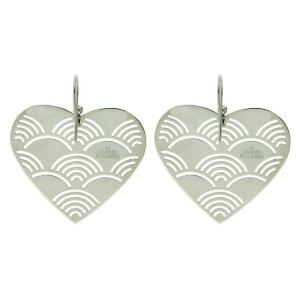 Bulgari Enigma Sterling Silver Heart Earrings