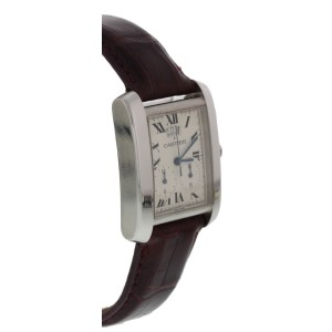 Cartier Tank Francaise 2653 Stainless Steel & Leather Quartz 29mm Unisex Watch