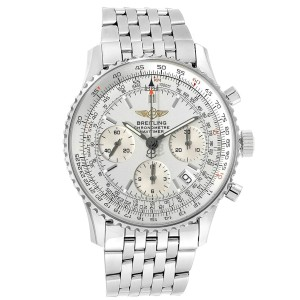 Breitling Navitimer Chronograph Silver Dial Steel Mens Watch A23322
