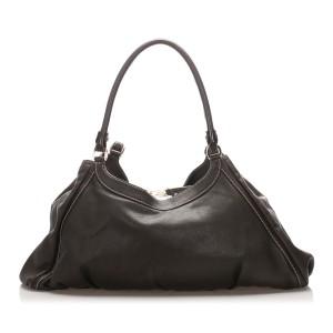 Abbey D-Ring Leather Shoulder Bag