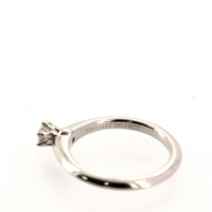 Tiffany & Co. Solitaire Ring Platinum with RBC Diamond .19CT 5