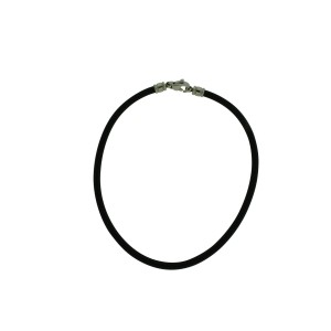 Bulgari Stainless Steel & Leather Cord Necklace