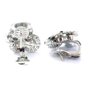 Bulgari 18K White Gold with 0.66ct. Diamond Cicladi Earrings