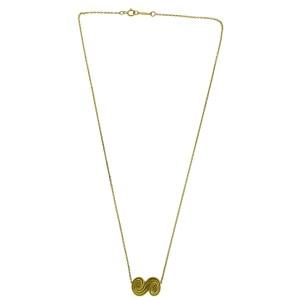 Tiffany & Co. 18K Yellow Gold Spiro Swirl Pendant Necklace