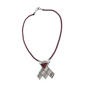 Hermes 925 Sterling Silver Tuareg Braided Necklace