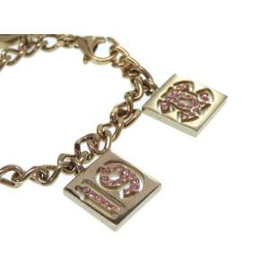 Chanel Gold Tone Hardware with Stone CC Mark Bracelet