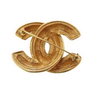 Chanel Gold Tone Hardware CC Mark Brooch