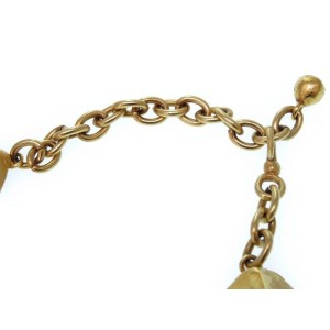 Hermes Gold Tone Hardware Vintage Stone Motif Choker Necklace
