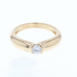 Cartier Sherry 18K Yellow Gold and 0.30ct Diamond Ring Size 6