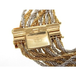 Christian Dior Silver and Gold Tone Hardware Bracelet