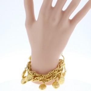 Chanel CC Mark Gold Tone Hardware Vintage Bracelet