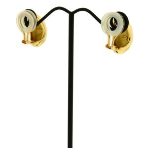 Mikimoto 18K Yellow Gold Earrings