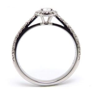 Tiffany & Co. PT950 Platinum with 0.34ct Diamond Ring Size 5