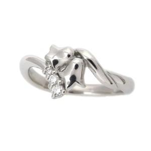 Christian Dior Platinum with Diamond Flower Ring Size 5