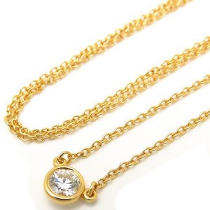 Tiffany & Co. 18K Yellow Gold with 0.20ct Diamond By The Yard Necklace
