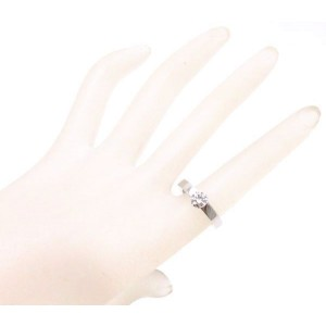 Cartier 18K White Gold with 0.73ct. Diamond Ring Size 6