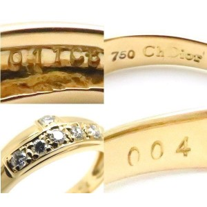 Christian Dior 18K Yellow Gold with 0.15ctw Diamond Ring