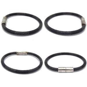 Louis Vuitton Silver Tone Hardware, Damier Graphite & Canvas Keep It Bracelet