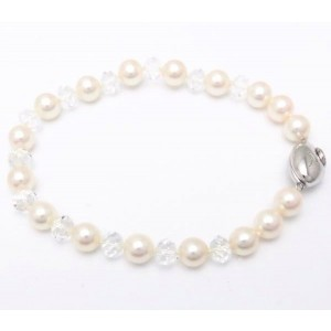 Tasaki 925 Sterling Silver with Cultured Pearl Bracelet