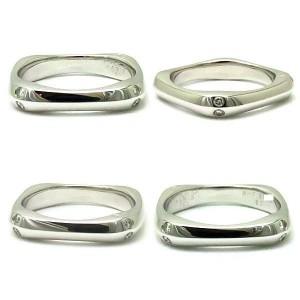 Fred of Paris 18K White Gold & Diamond Coup De Foudre Ring Size 5.5