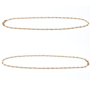 Chrome Hearts 22K Yellow Gold Twist Chain Necklace