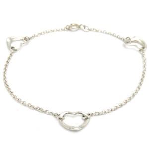 Tiffany & Co. 925 Sterling Silver Open Heart Bracelet