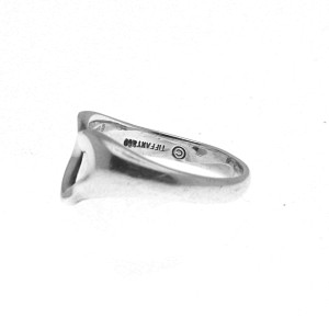 Tiffany & Co. Peretti Sterling Silver Heart Ring Size 5