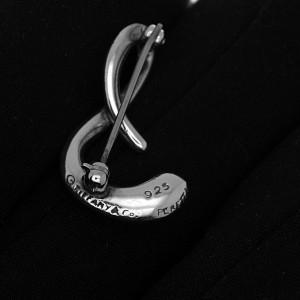 Tiffany & Co. Peretti Sterling Silver Alphabet S Brooch Pin