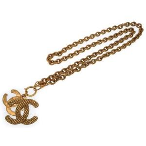 Chanel CC Mark Gold Tone Hardware Vintage Necklace