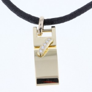 Chaumet Lian 18K Yellow Gold with Diamond Pendant Necklace