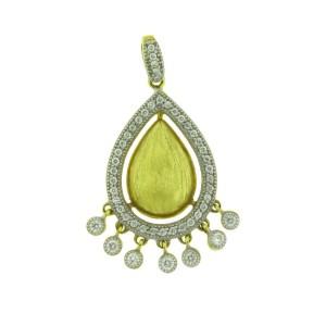 Jude Frances 18K Yellow Gold Diamond Pendant