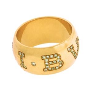 Bvlgari 18K Rose Gold Diamond Ring Size 7.25