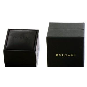 Bvlgari Women 18K White Gold Ring Size 8.5