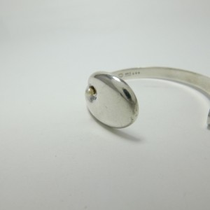 Georg Jensen 925 Sterling Silver Cultured Pearl Bangle Bracelet