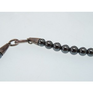 Georg Jensen Sterling Silver Hematite Bird Necklace