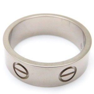 Cartier Love Ring 18K White Gold Size 5.5