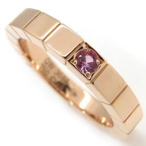 Cartier Lanieres Ring 18K Rose Gold with Pink Sapphire Size 4.75