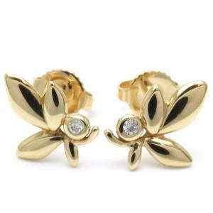 Tiffany & Co. 18K Yellow Gold with Diamond Earrings