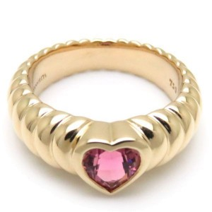 Tiffany & Co. 18K Yellow Gold with Tourmaline Ring Size 4.25