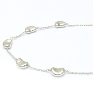 Tiffany & Co. 925 Sterling Silver Bean Necklace