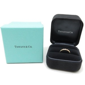 Tiffany & Co. 18K Rose Gold with Diamond Ring Size 3.75