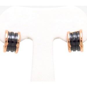 Bulgari B.Zero 1 18K Rose Gold & Black Ceramic Earrings