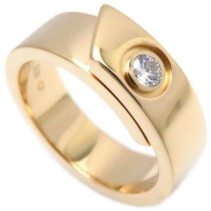 Cartier Anniversary Ring 18K Yellow Gold with Diamond Size 4.75
