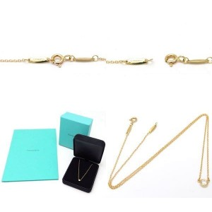 Tiffany & Co. 18K Yellow Gold with 0.20ctw Diamond By The Yard Pendant Necklace